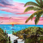 """Sunset In Paradise"" #129915 BUY $495 24x30 - Free Shipping Lower US 48 & Canada"