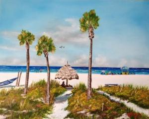 """Sirata Beach Resort Paradise Beach"" #130515 BUY $250 16x20 - Free Shipping Lower US 48 & Canada"