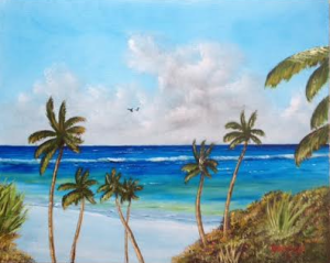"""A Piece Of Paradise"" #131115 BUY $250 16x20 - Free Shipping Lower US 48 & Canada"