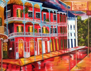 "Private Collection Of: (It is a Christmas Gift - Check back after Christmas) ""Bourbon Street New Orleans"" #132715 - $495 24x30"