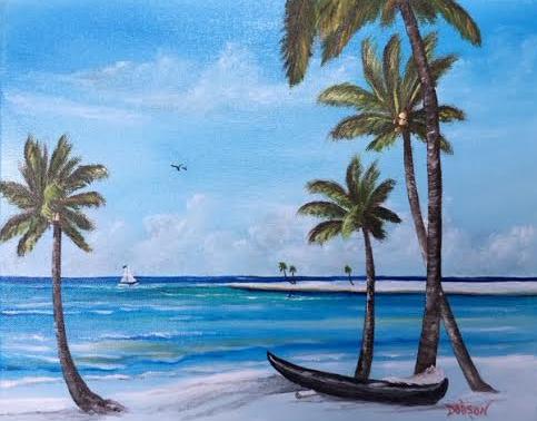 """Island Paradise"" #139616 BUY $150 11x14 - Free Shipping Lower US 48 & Canada"