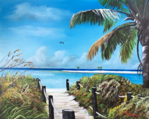 """Beach Time On The Key"" #139816 BUY $250 16x20 - Free Shipping Lower US 48 & Canada"