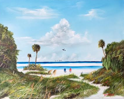 """""""In Paradise"""" #140716 BUY $250 16x20 - Free Shipping Lower US 48 & Canada"""