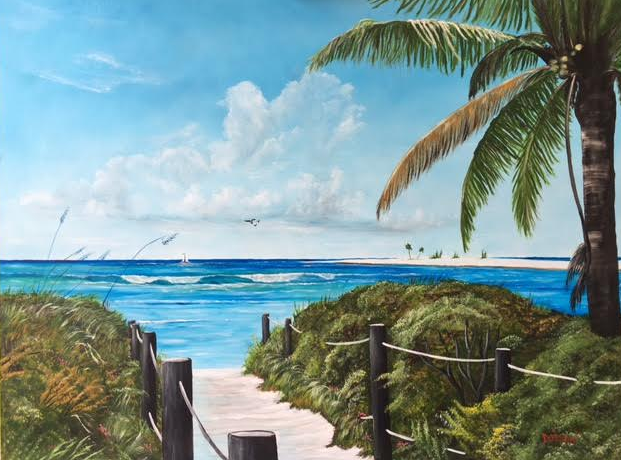 """""""Paradise Beach Access"""" #141516 BUY $990 32h x 42w - FREE Shipping Lower US 48 & Canada"""