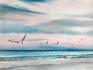 """Sea Gulls On The Gulf"" #141716 BUY $690 28h x 38w - FREE Shipping Lower US 48 & Canada"
