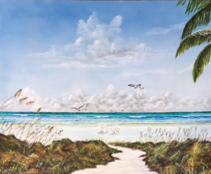 """My Paradise Location"" #141816 BUY $590 28""h x 34""w - FREE Shipping Lower US 48 & Canada"