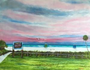 """""""Siesta Key Public Beach Access"""" #142116 BUY $590 28h x 36w - FREE Shipping lower US 48 & Canada"""