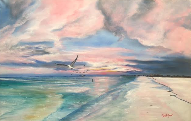 """""""Tranquility Sunset On Siesta Key"""" #142216 BUY $590 22""""h x 34""""w - FREE shipping lower US 48 & Canada"""