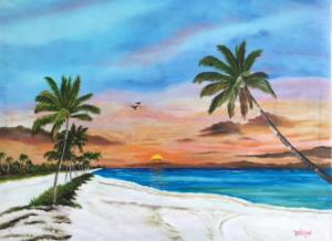 """""""A Key West Beach"""" #142616 BUY $690 30h x 36w - FREE Shipping Lower US 48 & Canada"""
