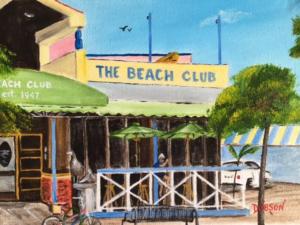 """""""The Beach Club On Siesta Key"""" #145916 BUY $150 9""""h x 12""""w - FREE shipping lower US 48 & Canada"""