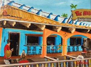 """The Hub Baja Grille On Siesta Key"" #146016 BUY $150 9""h x 12""w - FREE shipping lower US 48 & Canada"