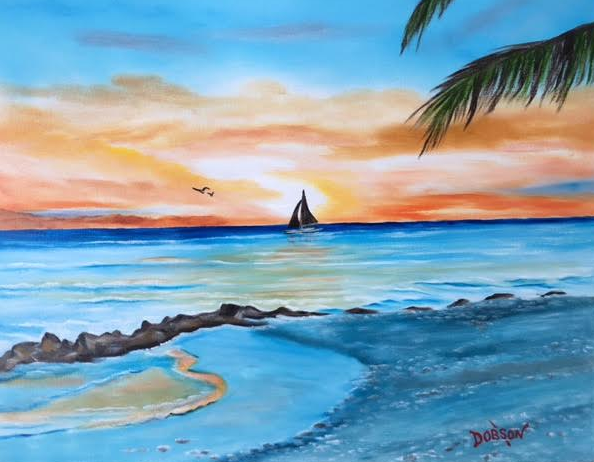 """""""Sailing At Sunset"""" #147416 BUY $250 16""""h x 20""""w - FREE shipping lower US 48 & Canada"""