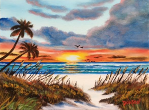 """Paradise"" #147916 BUY $130 9""x12"" - FREE shipping lower US 48 & Canada"