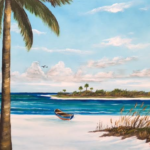 """An Island In Paradise"" #148417 BUY $250 16""h x 20""w - FREE shipping lower US 48 & Canada"