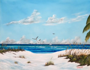 """Sea Gulls On The Key"" #148617 BUY $250 16""h x 20""w - FREE shipping lower US 48 & Canada"