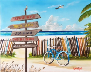 "Private Collection Of: Kelly Pullins Siesta Key, Florida ""My Favorite Beaches"" #150117 $250 16""h x 20""w"