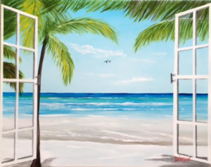"Private Collection Of: Brittany Braun & Steven Hopper Wentzville, Missouri ""Wake Up To The Beach"" #150417 $250 16""h x 20""w"
