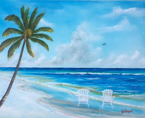 """""""Paradise"""" #150717 BUY $250 16""""h x 20""""w - FREE shipping lower US 48 & Canada"""