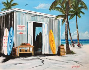 "Private Collection Of: John Oraha Tampa, Florida ""Siesta Key Surf Shack"" #153217 $250 16""h x 20""w"