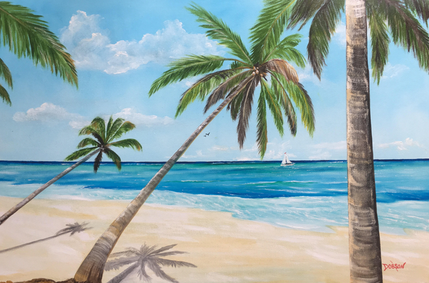 """""""A Slice Of Paradise"""" #154417 BUY $590 24""""h x 36""""w - FREE shipping lower US 48 & Canada"""