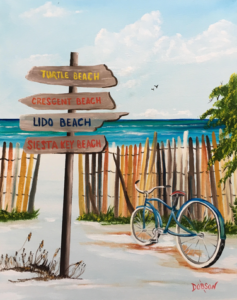 """""""My Favorite Beaches"""" #154517 BUY $250 16""""h x 20""""w - FREE shipping lower US 48 & canada"""