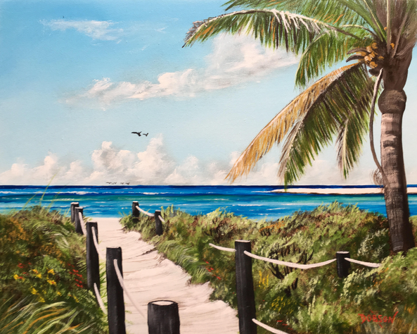 """""""Path To Paradise"""" #155417 BUY $250 16""""h x 20""""w - FREE shipping lower US 48 & Canada"""