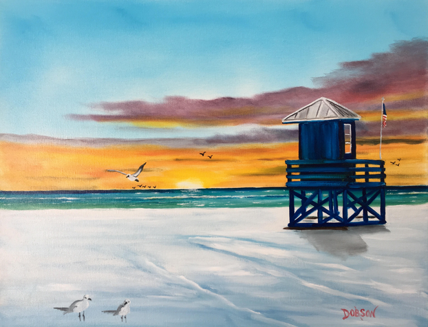 """""""Blue Lifeguard Stand On SK"""" #155817 BUY $250 16""""h x 20""""w - FREE shipping lower US 48 & Canada"""