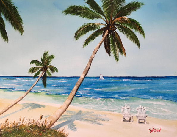 """""""A Touch Of Paradise"""" #155917 BUY $250 16""""h x 20""""w - FREE shipping lower US 48 & Canada"""