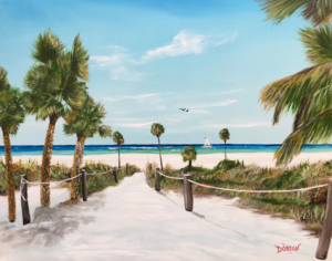 """""""Beach Time On The Key"""" #156217 BUY $250 16""""h x 20""""w - FREE shipping lower US 48 & Canada"""