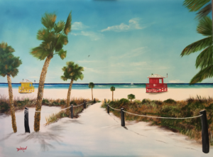 "Private Collection Of: Harry & Shani Loewith Siesta Key & Canada ""Siesta Key Beach Paradise"" #157017 $690 30""h x 40""w -"