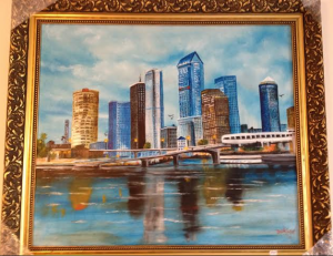 Sarasota Skyline 24x28 Framed BUY $395 #16614 - Free Shipping (USA) Only
