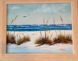 "Private Collection Of: Kim & Rob Trzecinski Wautowa, Wisconcin ""Sea Oats On The Beach"" 14x18 - #16714 - $195.00"