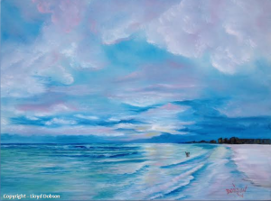 "Private Collection Of: David & Melanie Lester - Louisville, Kentucky - ""Another Siesta Key Sunset"" - 18x24 - #17114"