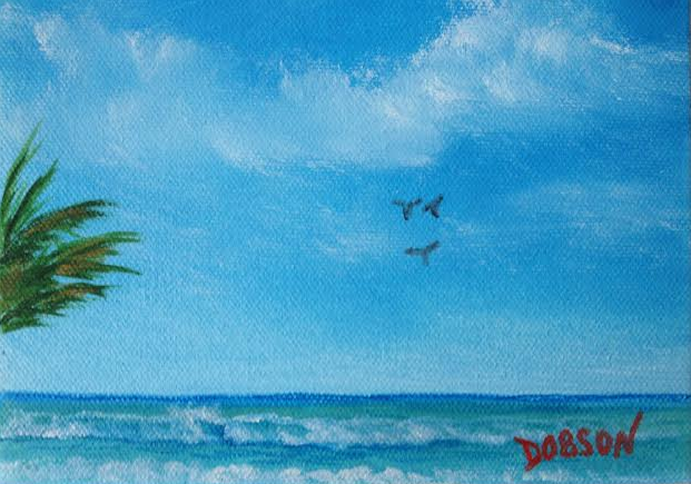 A Beach View #18514 BUY $35 5x7 Miniature - Free Shipping (USA) Only