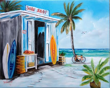 Surf Shack  Private Collection Of: Maureen & Paul Gresk Siesta Key, Florida #19214  - $225 16x20