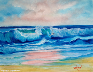 "Private Collection Of: David & Melanie Lester - Louisville, Kentucky ""Surf At Sunset"" #13314"