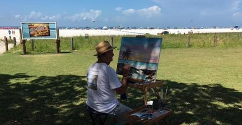 lloyd_dobson_-_painting_at_siesta_key_public_beach