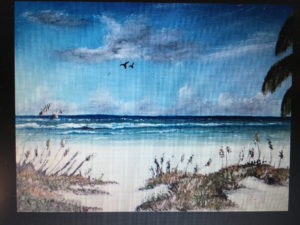 "Private Collection Of: Mary Hoffman Storm Lake, Iowa ""Siesta Key Beach"" #137616 $95 8x10"