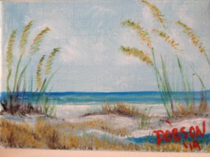 "Private Collection Of: Chuck Munster, Indiana ""Beach Grass"" #13814 $40 5x7"
