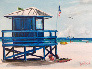"Private Collection Of: Yvonne & Nick Hetman Owensboro, Kentucky ""Blue Lifeguard Stand"" #158117 $95 8x10"