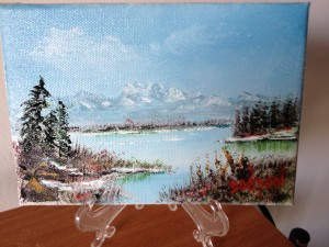 "Private Collection Of: Jillian McFarlan Sarasota, Florida ""Lake In The High Sierrasf"" #11113 - $40 18x24"