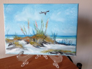 "Private Collection Of: Jane Richey Darien, Conn ""Sand Dunes At The Beach"" #14414 5x7"