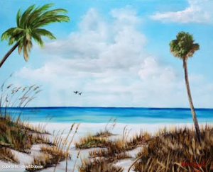 "Private Collection Of: Kathleen Schillo Victoria, Minnesota ""Siesta Key Island"" #111014 $250 16x20"