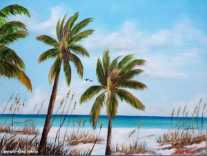 "Private Collection Of: Dee Houden & Jeff Hudson """"Siesta Key Beach Time"" #110514 - $225 - 16x20"