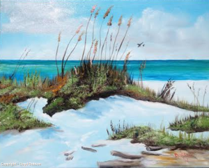 "Private Collection Of: Kathleen Schillo Victoria, Minnesota ""Sugar White Beach"" #111014 $250 16x20"