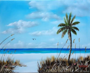 "Private Collection Of: Dee Houden & Jeff Hudson Siesta Key, Florida ""Siesta Key"" #111314 16x20 - $225"