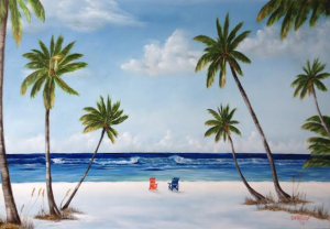 "Private Collection Of: Heidi Holler - Pittsburg, Pa - ""Let's Relax At The Key"" #111714 - 24x36"
