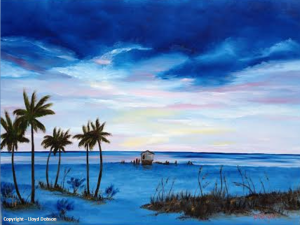 "Private Collection Of: Jillian McFarlan Sarasota, Florida ""Colors On The Gulf"" #112214 - $295 18x24"