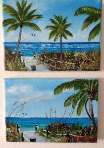 "Private Collection Of: Missy & Jay Virgin Oldtown, Kentucky #1134 & #113514 ""Beach Path"" & ""Path To Beach"""