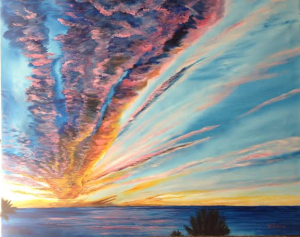 "Private Collection Of: Zbynex Knoll Siesta Key, Florida ""God's Sunset Masterpiece On Siesta Key"" #113614 - $995 34x42"